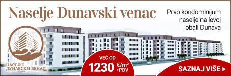 Naselje Dunavski venac na levoj obali Dunava