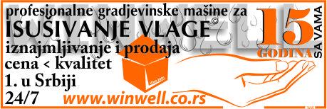 Winwell - Profesionalne građevinske mašine za isušivanje prostora