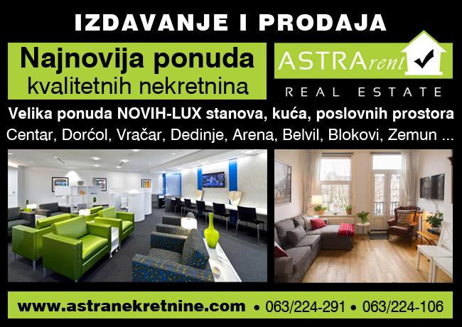 Izdavanje stanova Beograd - Novi Beograd, Centar