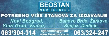 Beostan - Potražnja kvalitetnih stanova za izdavanje