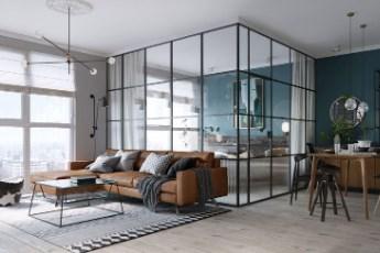 Staklenim zidom pregradite sobu ili radni prostor