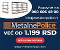 Metalne montažne police raznih dimenzija, akcija