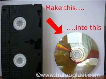 Prebacivanje sa VHS-a na DVD