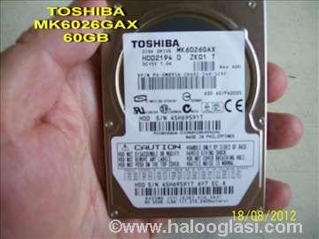,2.5  ide/pata Toshiba MK6026, GAX 60.0G