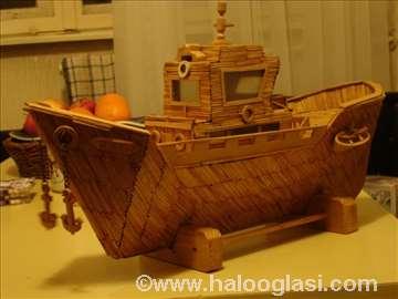 Brod napravljen od šibica