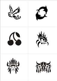 Šabloni za kanu i airbrush tattoo