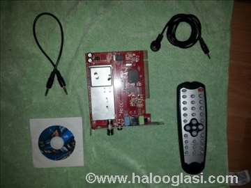 Honestech TV kartica, IR kabal, CD, daljinski