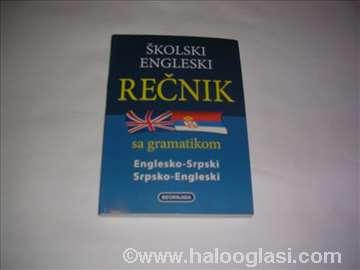 Školski engleski rečnik sa gramatikom