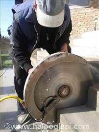 Sečenje, bušenje betona - Novi Sad