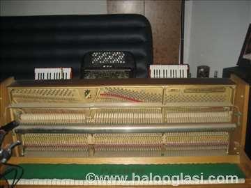 Pianino petrof, klavijatura Tehnics