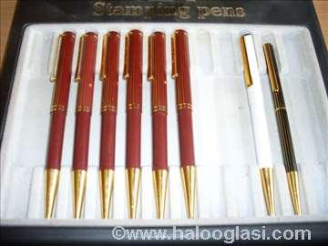 Pozlaćene hemijske olovke sa pečatom