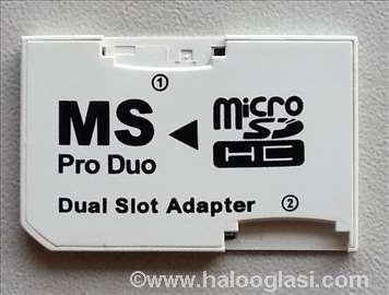 Micro SD na Memory Stick Pro Duo Adapter - Dual