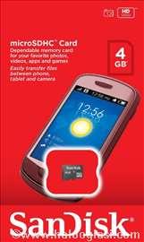 SanDisc Micro SDHC class 4 4GB