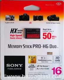 Sony Memory Stick PRO-HG Duo HX series-16GB