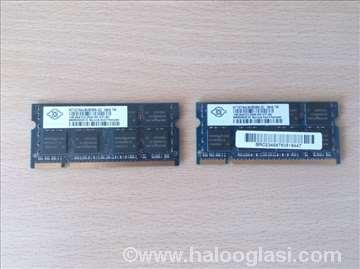 DDR2 memorije za laptop