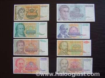 Novčanice iz doba inflacije 1993. godina