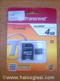 MicroSD 4gb NOVO Transcend class4
