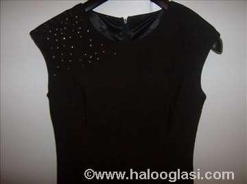 Crna elegantna haljina sa cirkonima