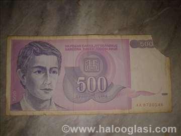 Više starih oštećenih novčanica