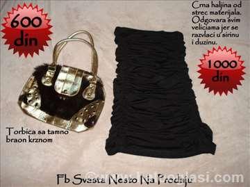 Crna večernja haljina od strec materijal