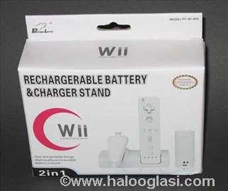 Baterija + postolje za kontrolere Nintendo Wii