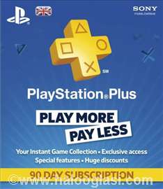 PlayStation Plus 90 days PS3 Sony