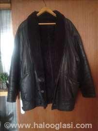 Muška kožna zimska jakna