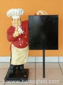 Reklamna figura kuhar 75cm
