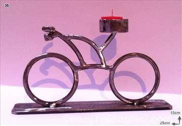 Svećnjak biciklo metal