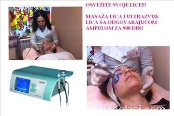 Ultrazvučno ubacivanje ampule i masaža lica