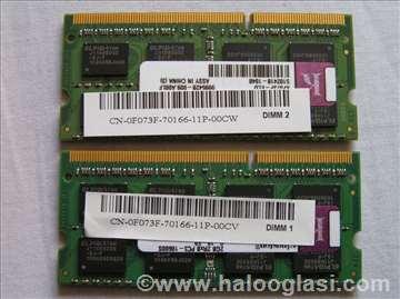Kingston 2 x 2GB uparene DDR3 PC3-10600S 1333 MHz