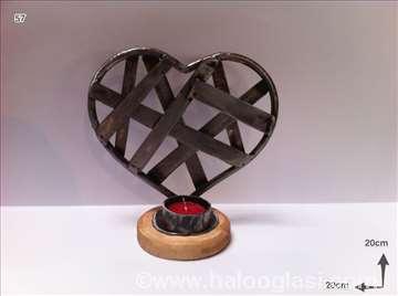 Svećnjak srce metal
