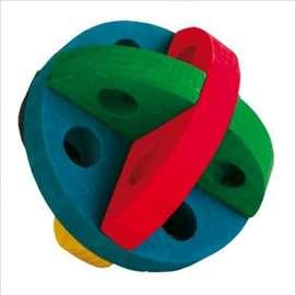 Drvena lopta za poslastice 8cm