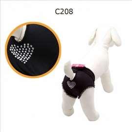 Gaćice za pse crne sa pink mašnom