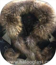 Kožna jakna  sa prirodnim krznom