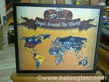 Poster Pivska mapa sveta veći