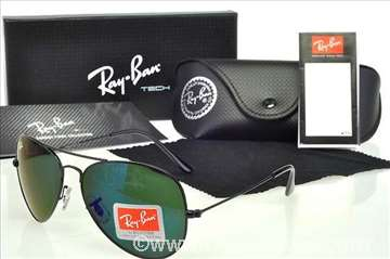 Ray Ban Aviator Black/Green