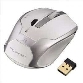 Hama Milano, bežični optički miš, belo/srebrni