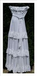 Snežno bela maxi haljina.Novo