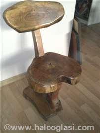 Ručno rađena stolica, puno drvo