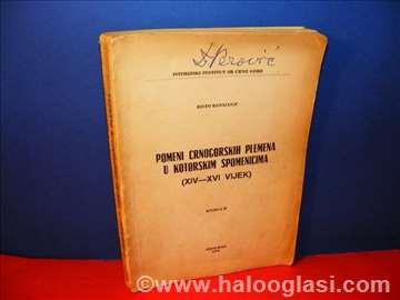 Pomeni crnogorskih plemena u kotorskim spomenicima
