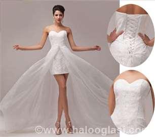 Kratka venčanica + odvojiva dugačka suknja