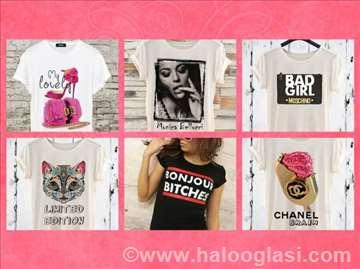 Ženske majice - nekoliko različitih dezena