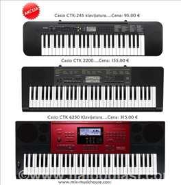 Casio klavijature CTK serija na Akciji