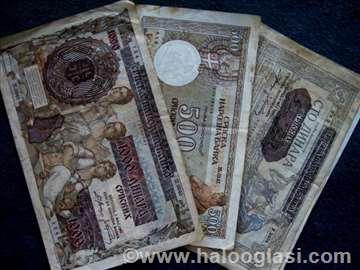 Prodajem stare novčanice