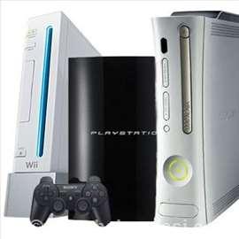 Sve vrste konzola PS3,PS4,XBOX 360, Wii