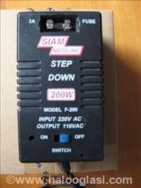 Trafo 110W sa 220W mehanički 200W osigurač prekid.