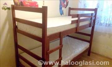 Krevet na sprat tresnja + 2 duseka  od 21.399 rsd
