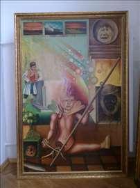 Prodajem dve slike Miše Jelića iz 1978.
