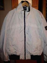 Muška bež jakna sa crnim renderom vel 50, XL